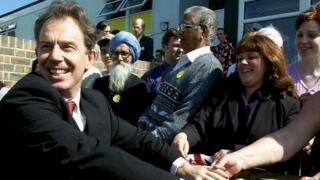 Tony Blair on the campaign trail in 2001