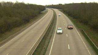 A12 between junctions 16 and 15