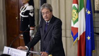 Paolo Gentiloni gives a press conference to announce the names of the ministers of his new government after a meeting with Italian President Sergio Mattarella (12 Dec)