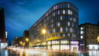 CGI of planned new Yotel in Glasgow