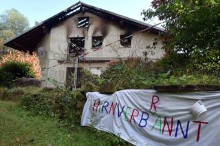 Remchingen asylum hostel gutted by fire, 25 July 15