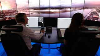 A design of a remote operations room that will approach aircraft during London City Airport