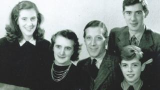 The Brook family, circa 1946, before departing to Germany