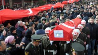 Jenazah salah seorang tentara Turki