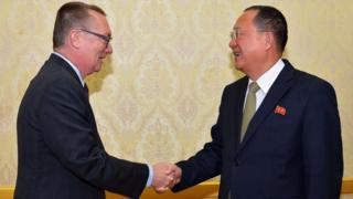 联合国高官访朝,与朝鲜官员会晤