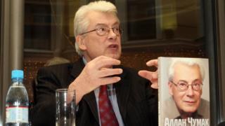 """Аллан Чумак на презентации своей книги """"Тем, кто верит в чудо"""" (2008 год)"""