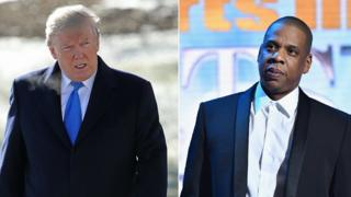 Donald Trump and Jay-Z