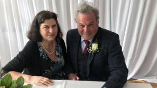 Carol Clegg and Len Carter