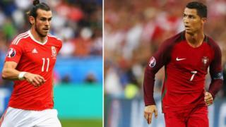 Gareth Bale (izquierda) y Cristiano Ronaldo