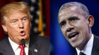 Trump iyo Obama oo maanta si kala duwan uga ololeynaya gobolka Florida.