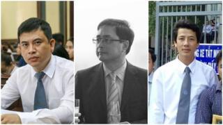 Ba luật sư, từ trái qua, Trần Thu Nam, Lê Công Định và Võ An Đôn bình luận về Ngày Truyền thống Luật sư Việt Nam
