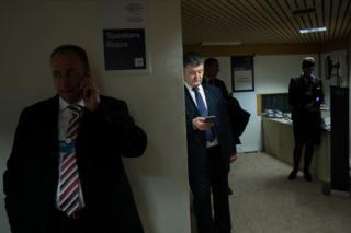 Порошенко між зустрічами на Всесвітньому економічному форумі у Давосі, 21 січня 2016 року