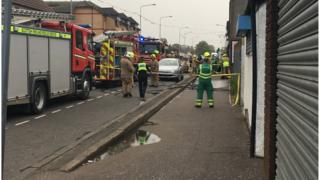 A firefighter was injured during the incident in Whitburn, West Lothian.