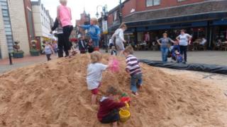 Sandpit in Wrexham