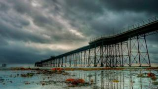 The Queen's Pier in Ramsey by Ray Collister