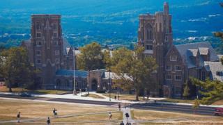 Stock Image of Cornell University buildings in Ithaca, New York.
