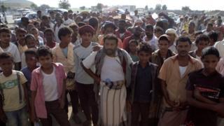 توزيع المساعدات في محافظة حجة