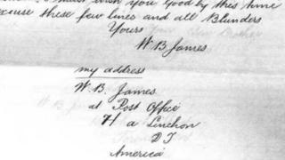 """Llythyr John C James trwy garedigrwydd Mike Lewis"""""""