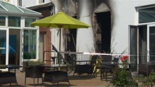 Fire damage at St Michael's Hospice