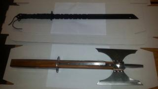 The PSNI posted photographs of the seized weapons on their Facebook page