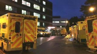 Ambulances at QA