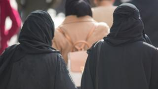 A general view of two Muslim women