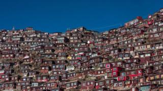 Log cabins at Larung Gar