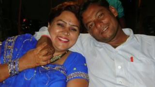 Shefali with her husband Umesh