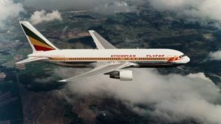 un avion de la compagnie Ethiopian