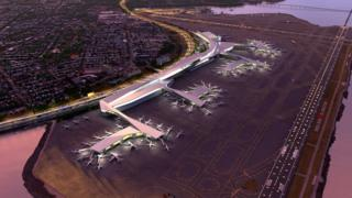 Artist's impression of the redesigned LaGuardia Airport