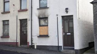 Petrol bombed house in Ballymena
