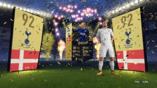 Screen showing a player being unlocked in Fifa 18