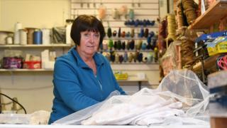 Marcelle Humphreys at Sew and Sew in Maesteg