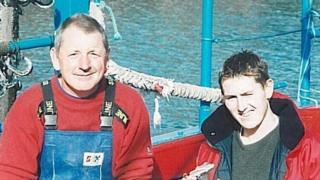 Gareth Willington and his son Daniel