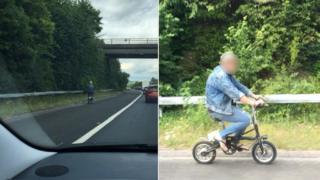 Cyclist on M3