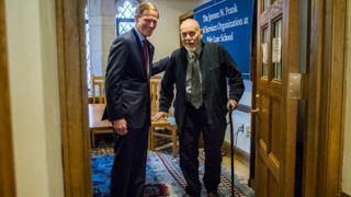 Senator Richard Blumenthal (left) with Edward Spires (File photo)