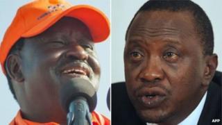 Uhuru Kenyatta iyo Raila Odinga
