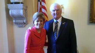 Nicola Sturgeon and John Duncan
