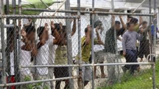 Asylum seekers at Manus Island. Photo: March 2014