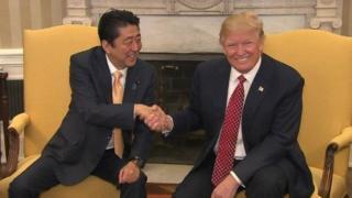 Waziri mkuu wa Japan Shinzo Abe na rais wa Marekani Donald Trump