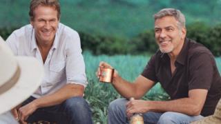 Garber və Clooney (sağda)