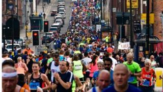 Runners in Digbeth in 2017