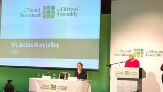 The Citizens' Assembly is chaired by the Supreme Court judge, Ms Justice Mary Laffoy
