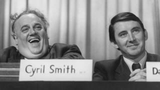 Cyril Smith and David Steel at the 1973 Liberal Party conference
