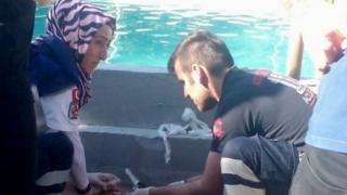 Турецкий аквапарк и спасатели