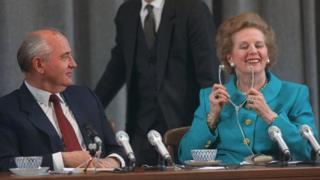 Михаил Горбачев, Маргарет Тэтчер, 1990г