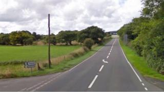 A40 near Trecwn