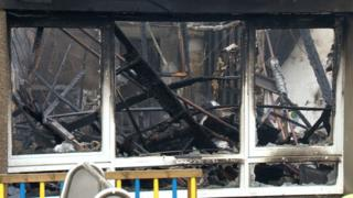 fire damage at school