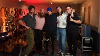 Bristol punk band Idles (Joe Talbot: Singer, Adam Devonshire: Bassist, Mark Bowen: Guitarist, Lee Kiernan: Guitarist, Jon Beavis: Drums)