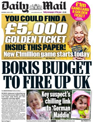 The Daily Mail front page 6 June